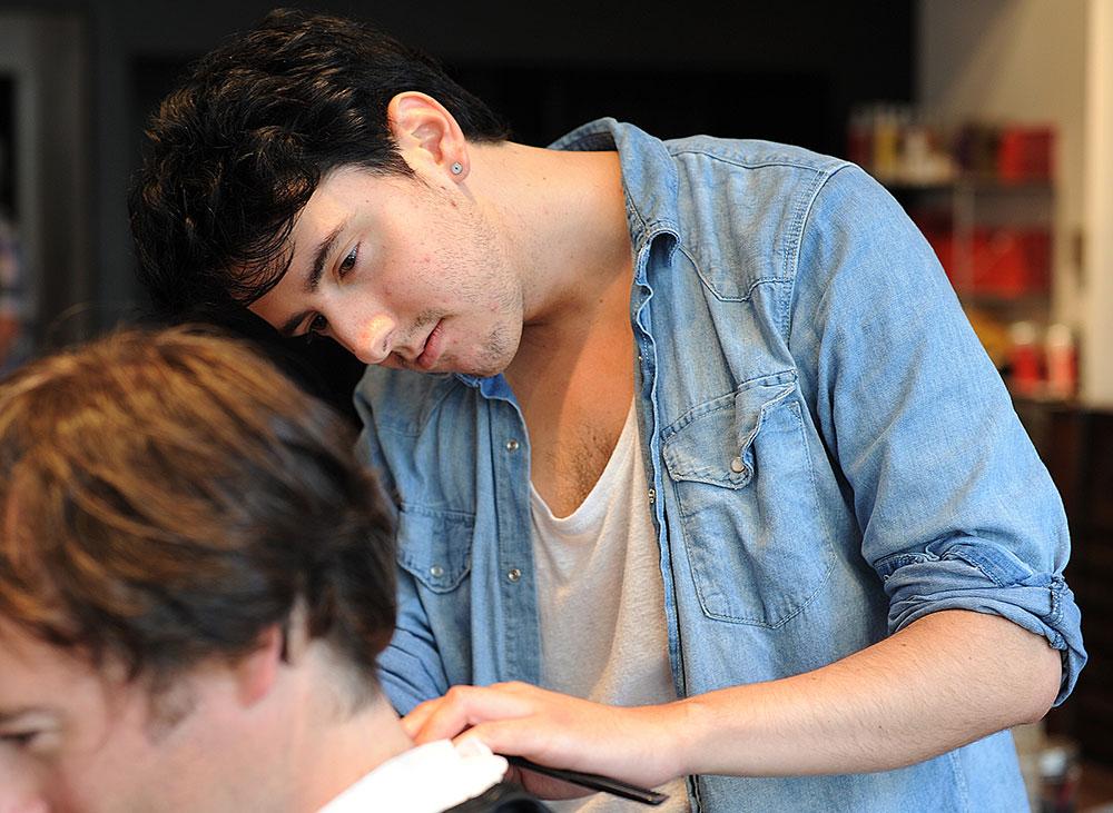 dylan walker hair school graduate barbering mens cut