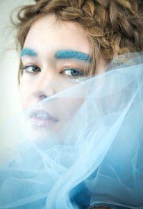 top makeup artist oz zandiyeh blue brows