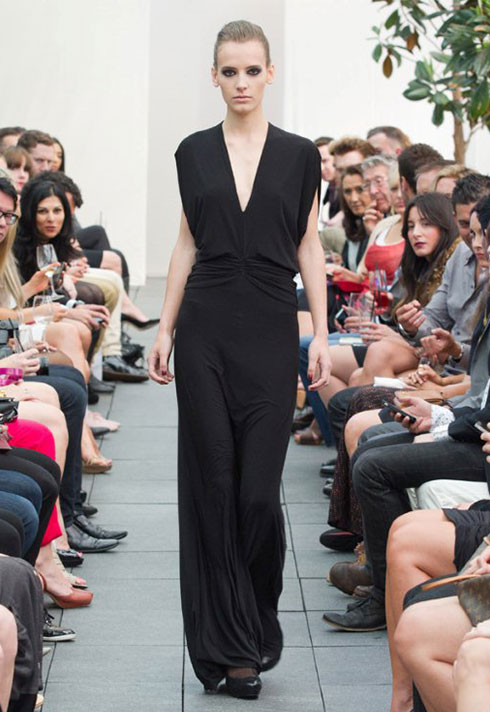 top fashion school graduate chelsea leadbetter matlo black dress
