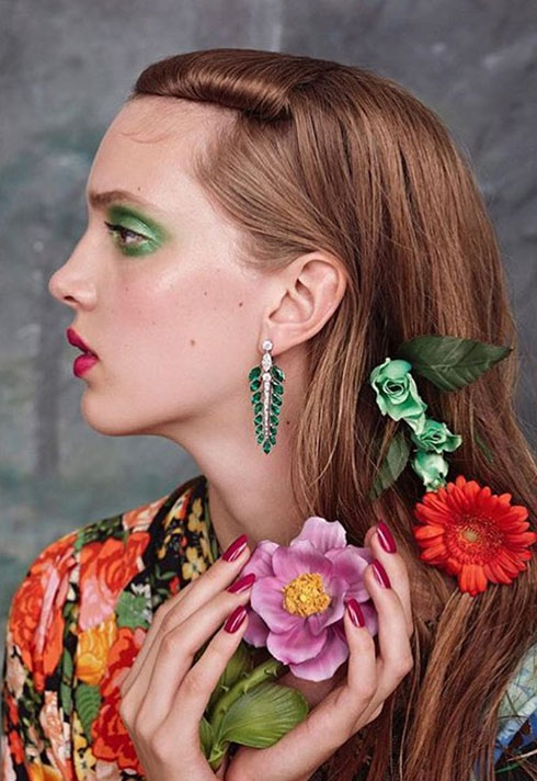 top makeup school graduate janeen witherspoon vogue beauty japan spring floral