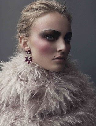 top makeup school graduate janeen witherspoon exit magazine editorial shaggy fur