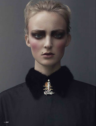 top makeup school graduate janeen witherspoon exit magazine editorial fur collar
