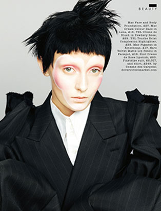 top makeup school graduate janeen witherspoon gothic beauty editorial