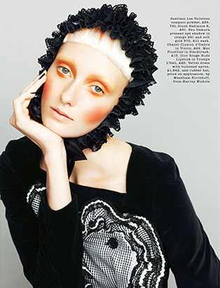 top makeup school graduate janeen witherspoon orange beauty editorial