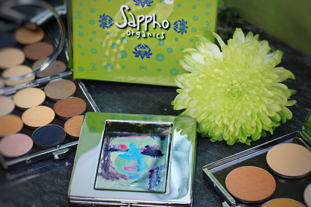 sappho organics product display