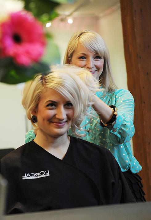 pro hair graduate pamela jacek shapiro of workshop salon styling hair