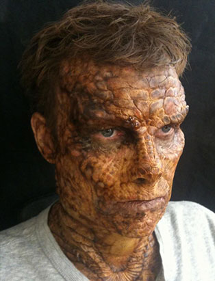 blanche macdonald fx makeup instructor holland miller reptile man