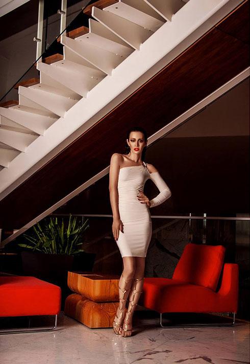 top fashion design graduate wen chee liu jason matlo white bodycon dress