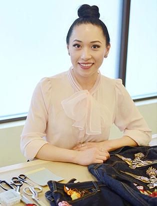 top fashion design graduate wen chee liu embellished denim