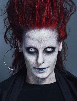 halloween makeup demonic by leanne podavin