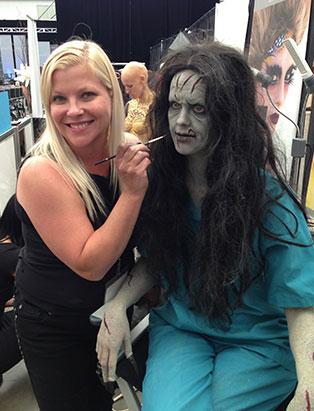 leanne podavin makeup demo at imats