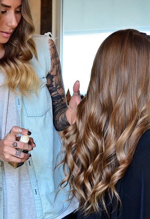 pro hair graduate erin koslo vanity corner loose curls