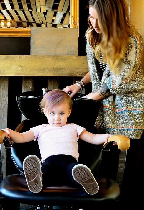 pro hair graduate erin koslo of vanity corner toddler client