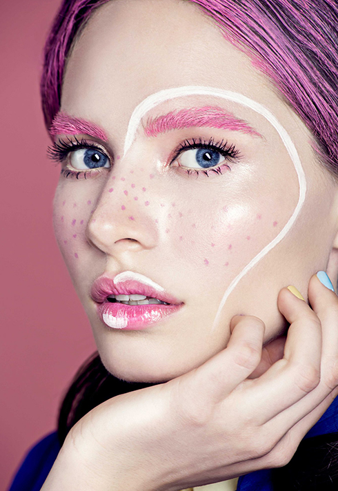 paloma guerard pretty pink hearts makeup