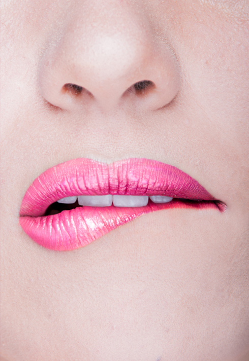 paloma guerard pretty pink lips makeup