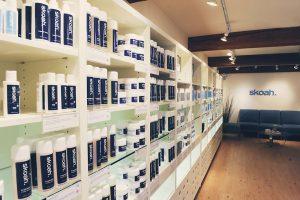 skoah spa product wall