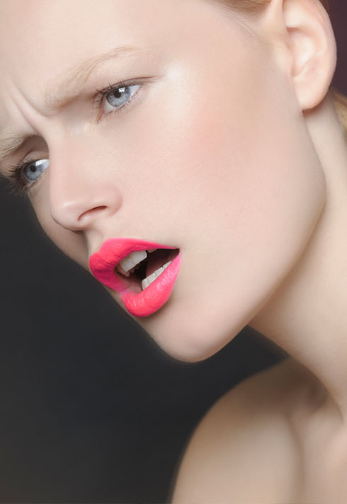 pink lip makeup by blair petty