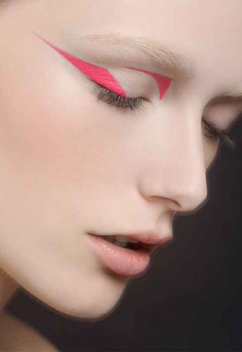 graphic pink eye makeup by blair petty