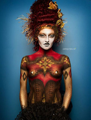 natacha trottier art world italian renaissance bodypainting