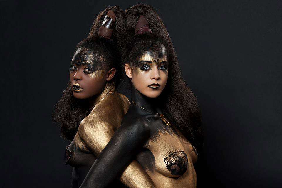 natacha trottier top makeup artist gold bodypainting