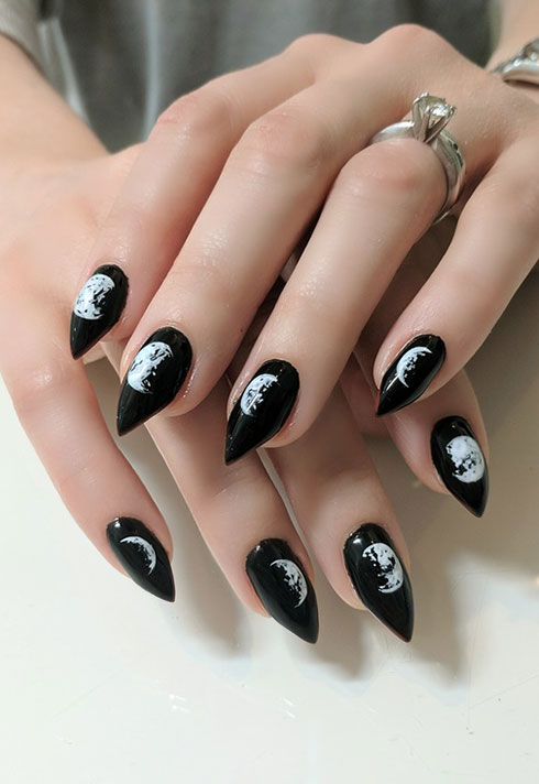 top beauty school graduate paige roy moon phases nail art