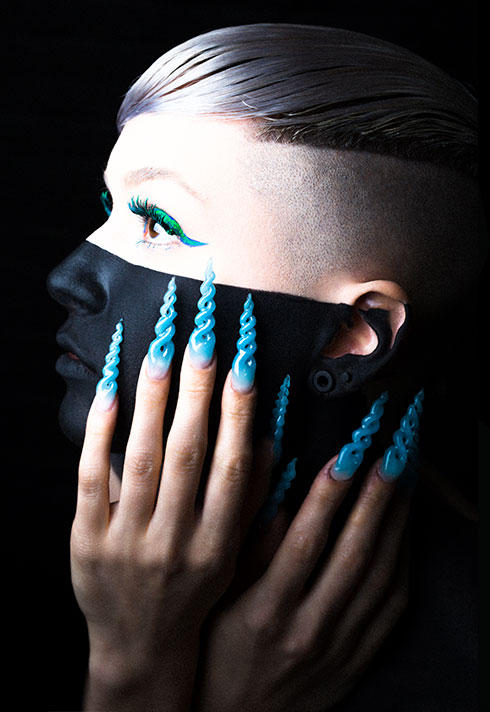 top beauty school graduate paige roy twisted nail art