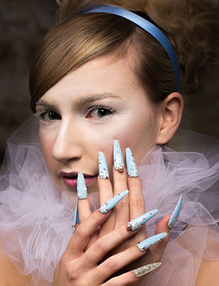 top beauty school graduate paige roy cinderella makeup and nail art