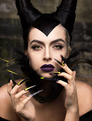 top beauty school graduate paige roy maleficent makeup and nail art