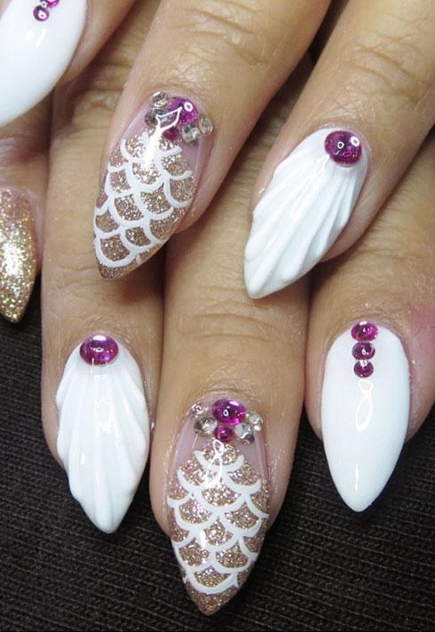 keiko matsui glam nail studio 3d mermaid inspired nails
