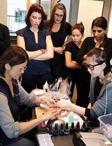 keiko matsui instructing nail students
