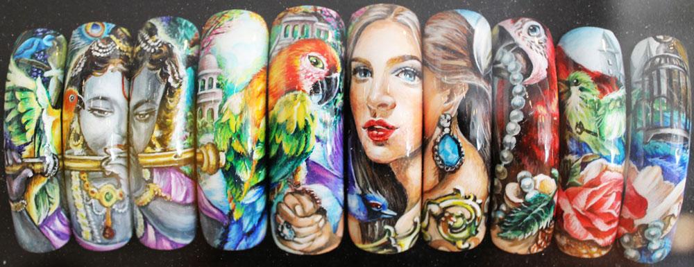 keiko matsui glam nail studio hand-painted nail art