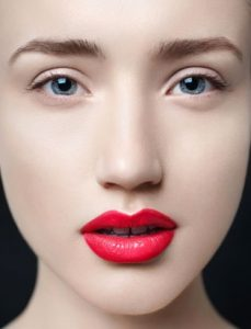 win liu perfect red lip makeup