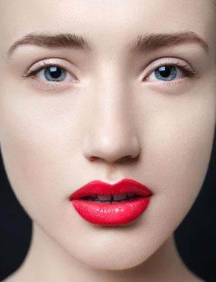 win liu perfect red lip makeup