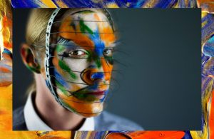 win liu makeup avant garde face cage fashion makeup