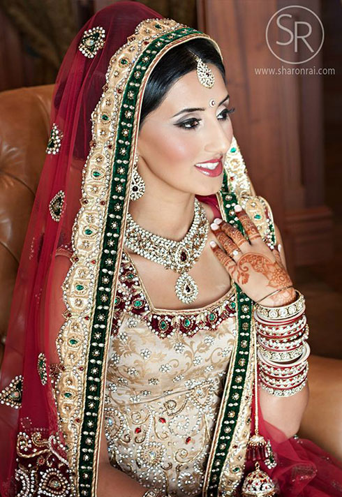 sharon rai bridal makeup indian bride with veil