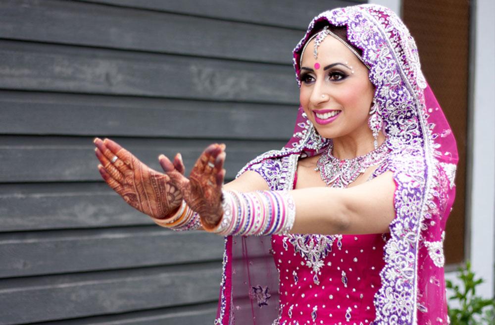 sharon rai bridal makeup open palm henna
