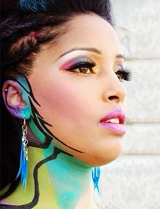 shaina azad top makeup artist pop art