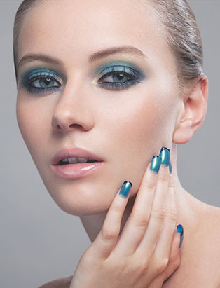 blue shadow beauty makeup by instructor marlayna pincott