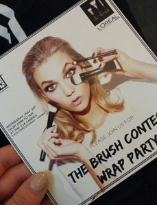 l'oreal the brush contest wrap party invite