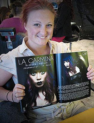 jennifer little top makeup instructor goth magazine inside feature makeup