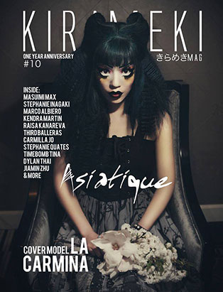 jennifer little top makeup instructor goth magazine cover la carmina