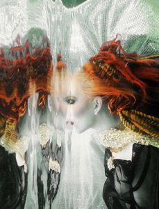 jennifer little underwater red hair