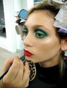 top makeup school graduate jenna kuchera bts application green