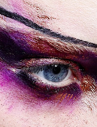 top makeup school graduate jenna kuchera purple glitter eye