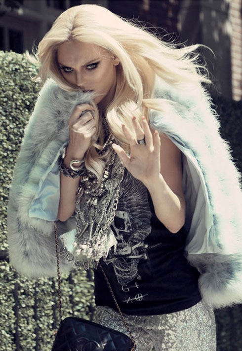 amy lu fashion stylist blonde rocker editorial