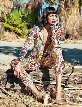 amy lu fashion stylist for chloe magazine botanical print suit
