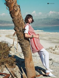 amy lu fashion stylist for chloe magazine white and red layers