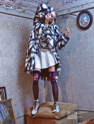amy lu fashion stylist fur coat editorial