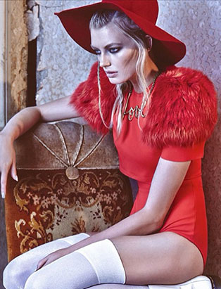 amy lu fashion stylist red monochrome editorial