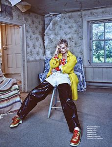 amy lu fashion stylist yellow jacket editorial